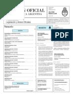 Boletín Oficial de la República Argentina, Número 33.297. 15 de enero de 2016