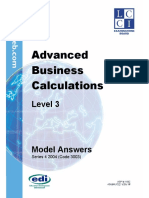 Adv Business Calculations L2 Model Answers Series 4 2004
