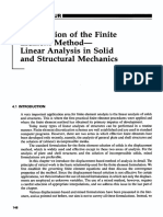 Formulation of the Finite Element Method Linear Analysis in Solid and Structural Mechanics
