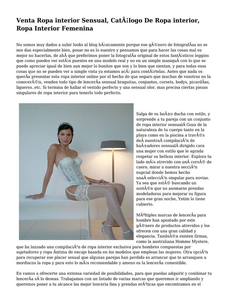 dffaae893a21 Venta Ropa interior Sensual, Catálogo De Ropa interior, Ropa ...
