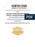 How to pass cima e3 exam?