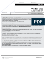 5. Visitor Visa Application Form
