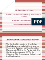 Basic Teachings of Islam by Prof Yusuf Morales