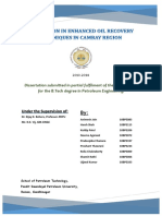 Project PreDissertation Report -Enhanced Oil Recovery