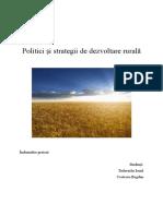 Politici și strategii de dezvoltare rurală