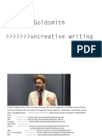 Kenneth Goldsmith Uncreative Writing