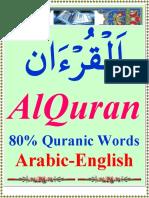 80 Percent Quranic Words English