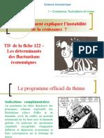 Version élève du TD de la fiche 122 - L'analyse des déterminants des fluctuations de la croissance .ppt