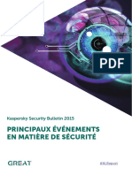 Security bulletin Principaux Evenements Securite