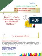 Thème 211 - actualité de l'analyse de Durkheim.ppt