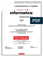 Informatica Powercenter Course