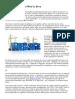Diseño De Paginas Web En Peru