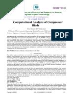 Computational Analysis of Compressorblade