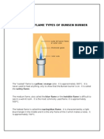Different Flame Types of Bunsen Burner