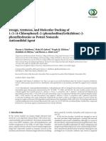 Design, Synthesis, and Molecular Docking of 1-(1-(4-Chlorophenyl)-2-(phenylsulfonyl)ethylidene)-2- phenylhydrazine as Potent Nonazole Anticandidal Agent