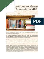 Siete Libros Que Contienen Las Enseñanzas de Un MBA