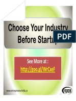 Choose Your Industry Before Startup