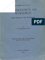 In Defence of Mimamsa the Essence of Hinduism 1952 Adyar No 28 - C. Kunhan Raja