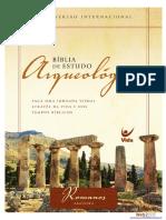 Bíblia de Estudo Arqueológica NVI (Romanos - Amostra)