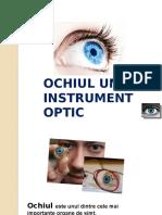 Ochiul uman in fizica
