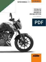 2012 Duke 125-200 Repair Manual