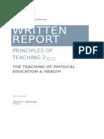 Written Report-principles of Teaching