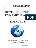 Edexcel B Geography Unit 1 Revision Booklet