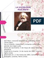 A Porte Sala Socio Log a Karl Marx