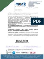 Bizhub c203