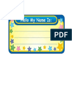 Samples of Creative Name Tag
