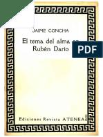 El Tema Del Alma en Rubén Darío