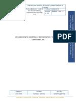 Sgsst -Pr-01 Procedimiento Control de Documentos y Registros