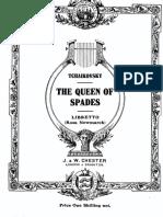 The Queen of Spades — Libretto (English)