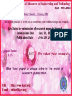 Call for Papers Flyer IJAET 2016