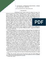 COULOUBARITSIS, L., Le Sens de La Notion «Demonstration» Chez Le Pseudo-Denys