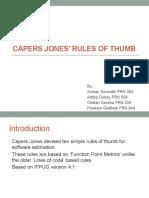 Caper Jones Rule of Thumb
