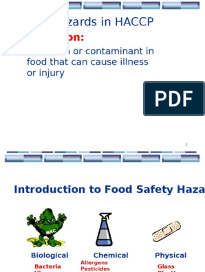 HAZARDS and GMP and SSOP ppt | Hygiene | Foodborne Illness