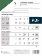 Cuadernillo de Respuestas 1 WAIS IV