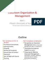 Classroom Organization & Management Part1