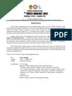 Proposal 32th Fiesta Urologi 2015 - Surabaya