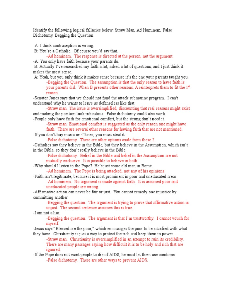 worksheet Logical Fallacies Worksheet apologetics fallacies worksheet answers faith fallacy