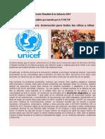 UNICEF-Estado Mundial de La Infancia 2015