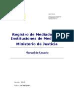Registro de Mediadores e Instituciones de Mediación Ministerio de Justicia