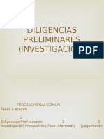 Derecho Procesal Penal - Diligencias Preliminares e Investigacion Preparatoria