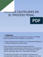 Derecho Procesal Penal - Medidas Cautelares en El Proceso Penal