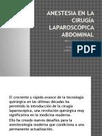Anestesia en La Cirugía Laparoscópica Abdominal