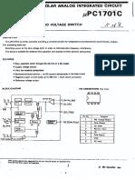 NEC UPC1701C Datasheet