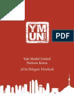 YMUN Korea 2016 Delegate Viewbook