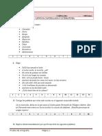 Examen de Ortografía.- Bachillerato