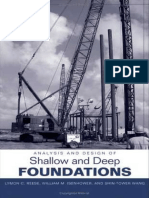 L. E. Reese, Analysis and Design of Shallow and Deep Foundations, 2006